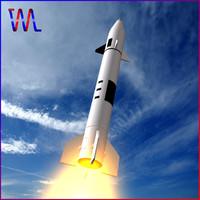 3ds max al-ababil rocket e