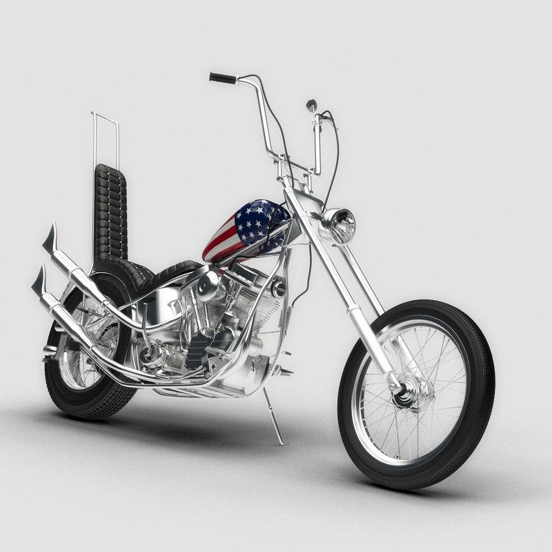 easy rider motorcycle 3d model