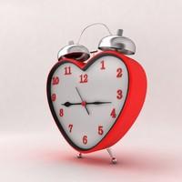 heart clock 3d max