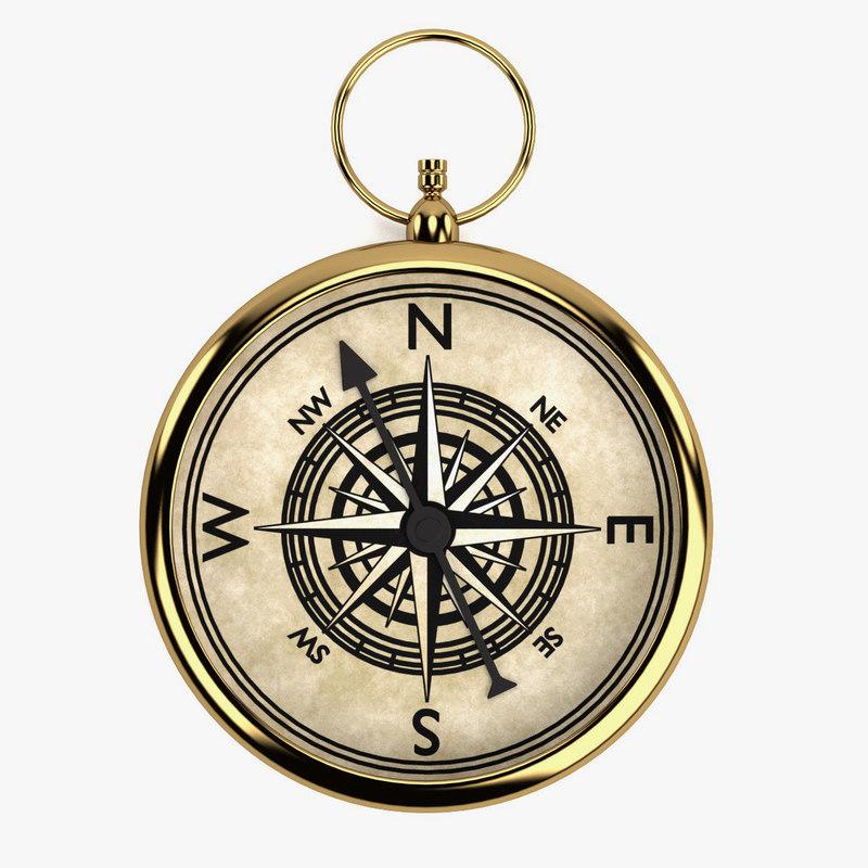 3ds vintage compass