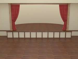 3d 3ds theater scene