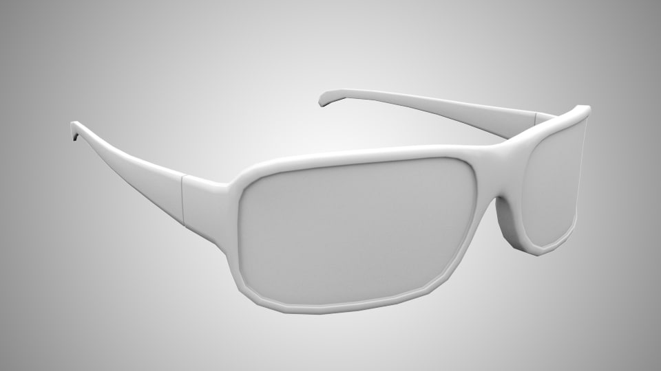 3d model sunglasses
