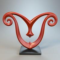 3d model sculpture statue