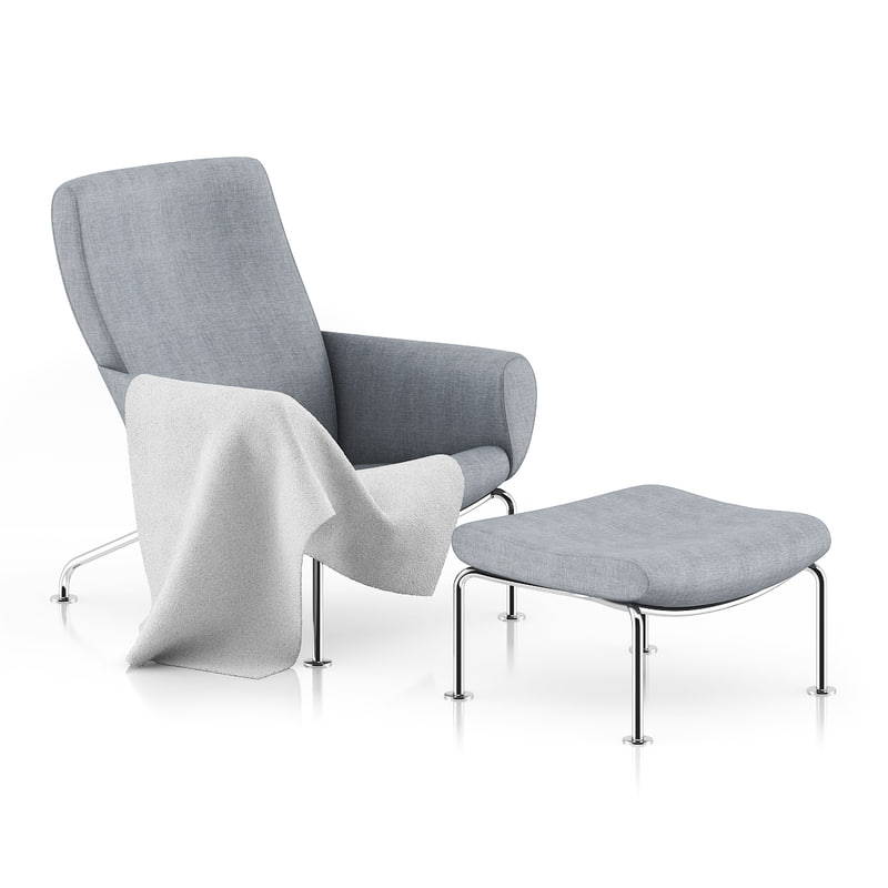 grey lounge chair footrest max