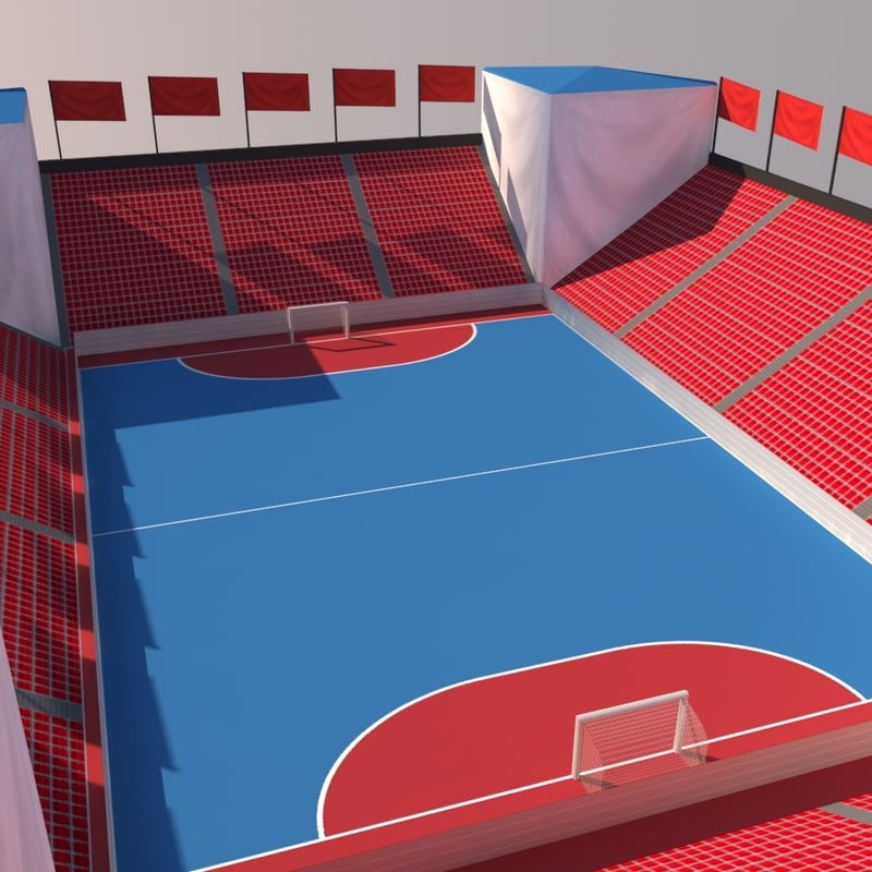street soccer court arena 3d max