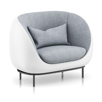 grey armchair pillow 3d model