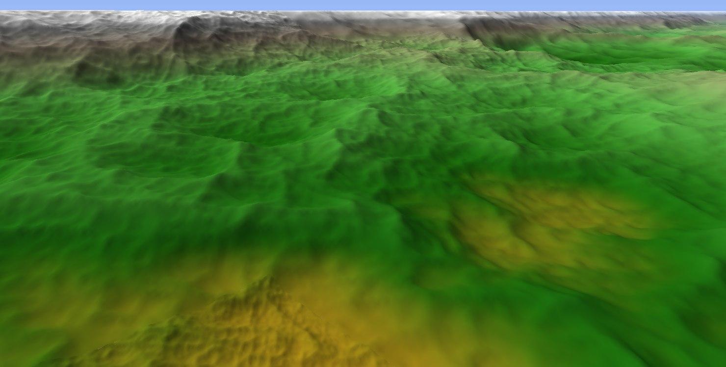 terrains height bitmap obj