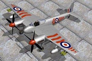 3d model haviland hornet fighters