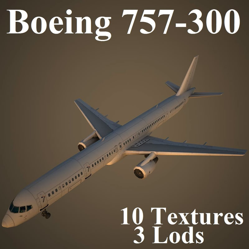 3d model boeing air airlines
