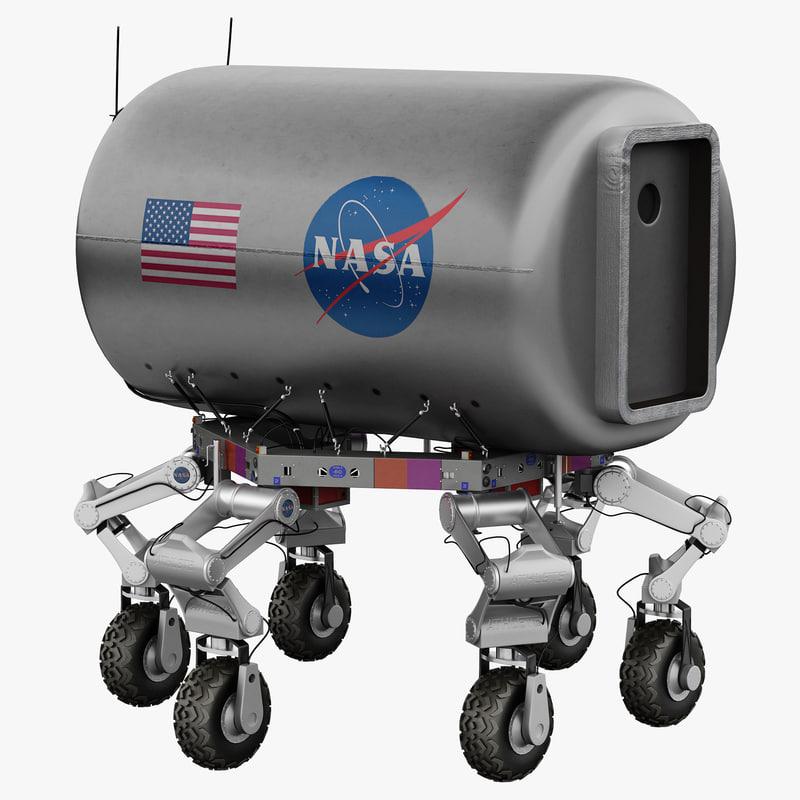 3d max nasa athlete robotic lunar rover