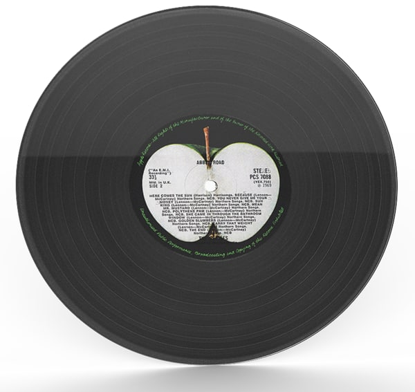 beatles vinyl record 3d model
