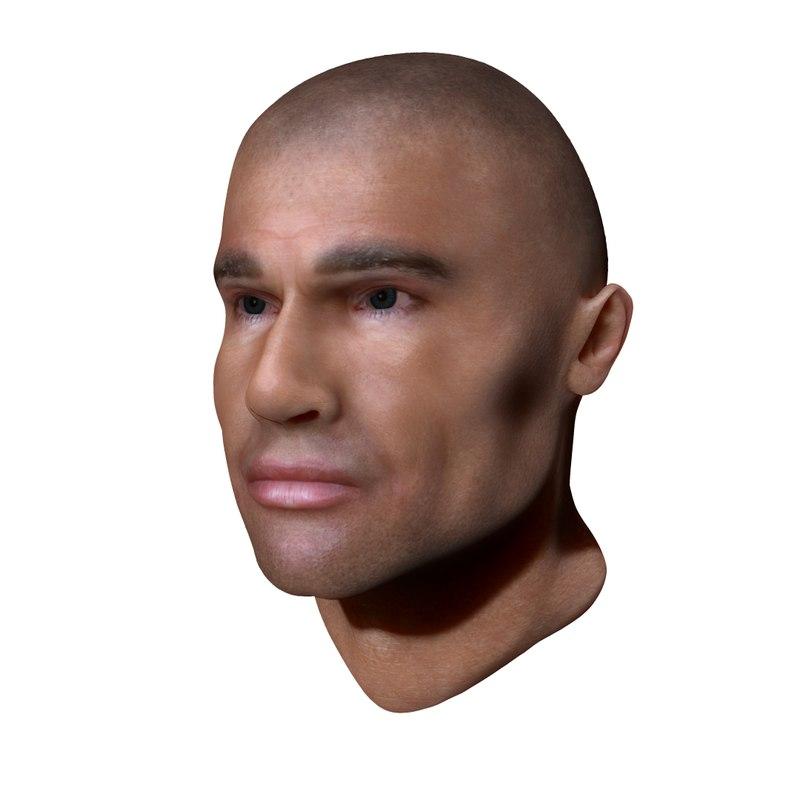 3d burrows head model
