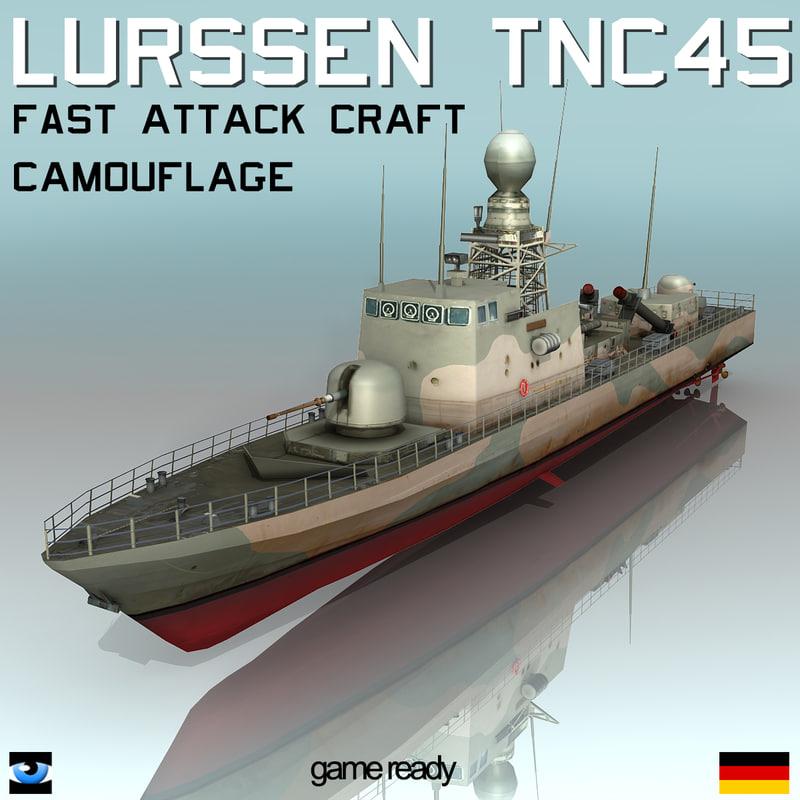 Lurssen Tnc 45 Camouflage Missile Boat