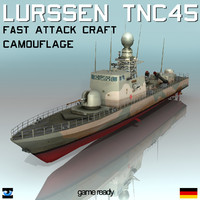 Lurssen TNC 45 Camouflage Missile Boat