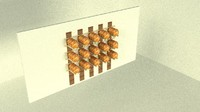 bakery display 3d model