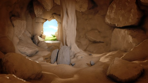 3d model cartoon cave environment