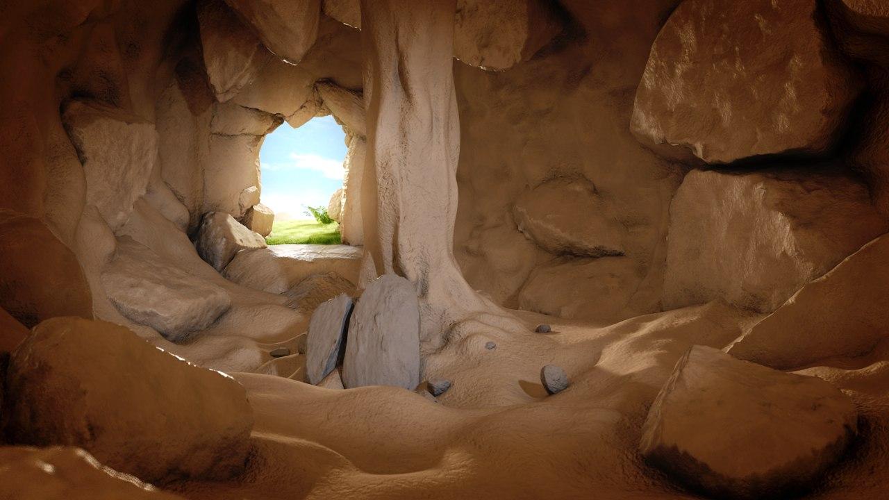 3d model cartoon cave environment