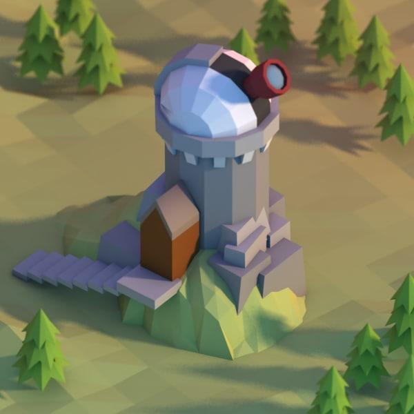 3d model observatory building