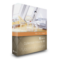 CGAxis Models Volume 48 Modern Furniture FBX OBJ