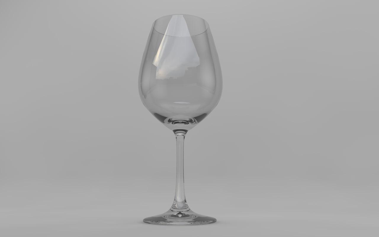 wine glass obj free