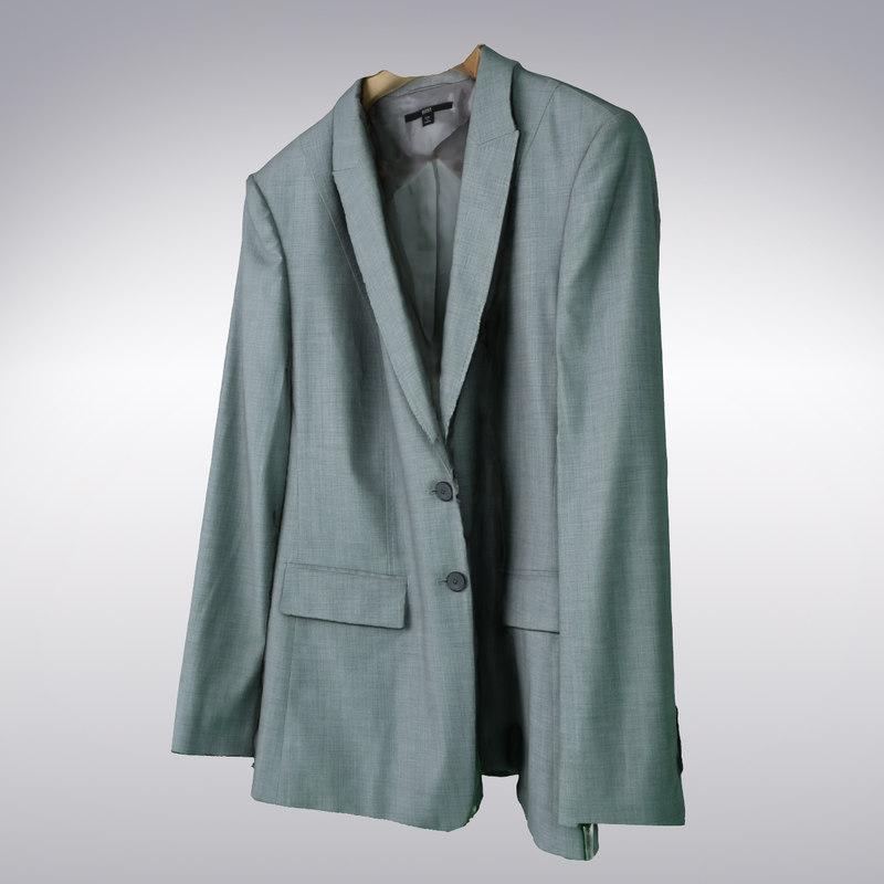 3d men s suit jacket