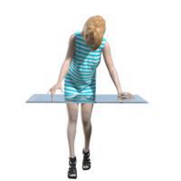 human woman girl 3d model