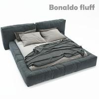 3d double bed bonaldo fluff model