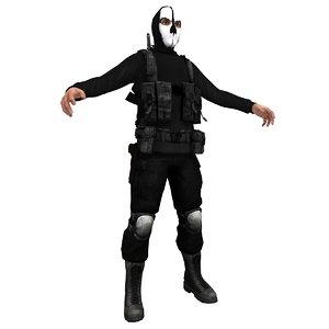 3d ghost paramilitary
