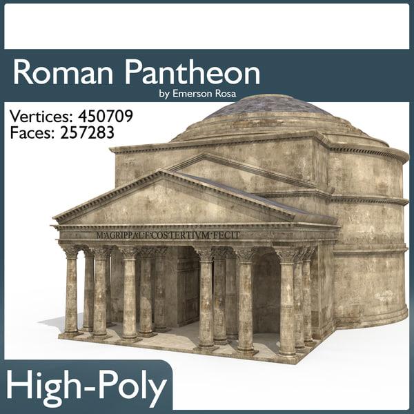 3d roman pantheon model