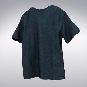 deep blue t-shirt scanning 3d max