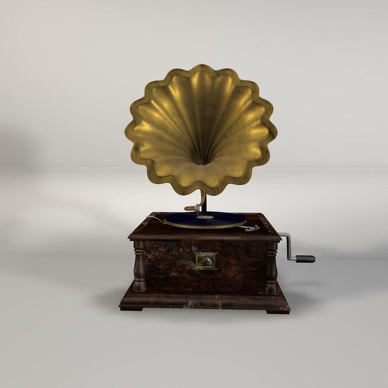 3d gramaphone