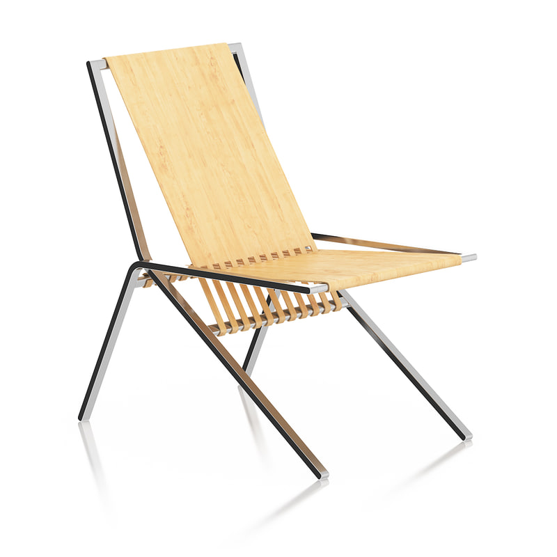 wooden lounge chair metal max