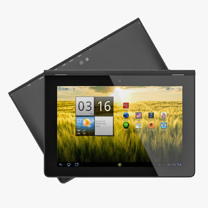 3d model android slim pc tablet
