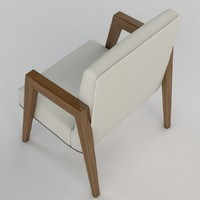 3dsmax russel wright arm chairs