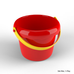 3d children s toy bucket model