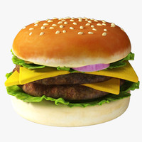 3d model burger