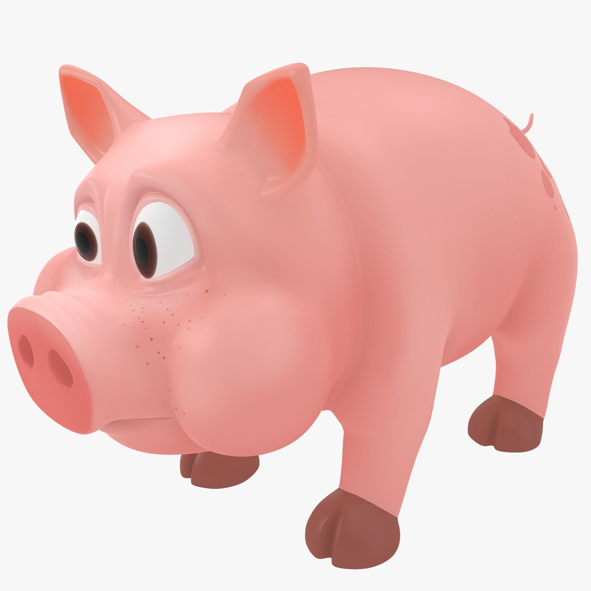cartoon pig c4d