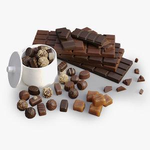 sweets caramel 3d model