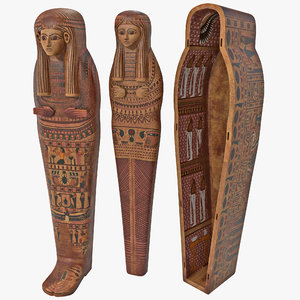 3d egyptian sarcophagus