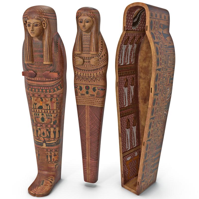 3d egyptian sarcophagus