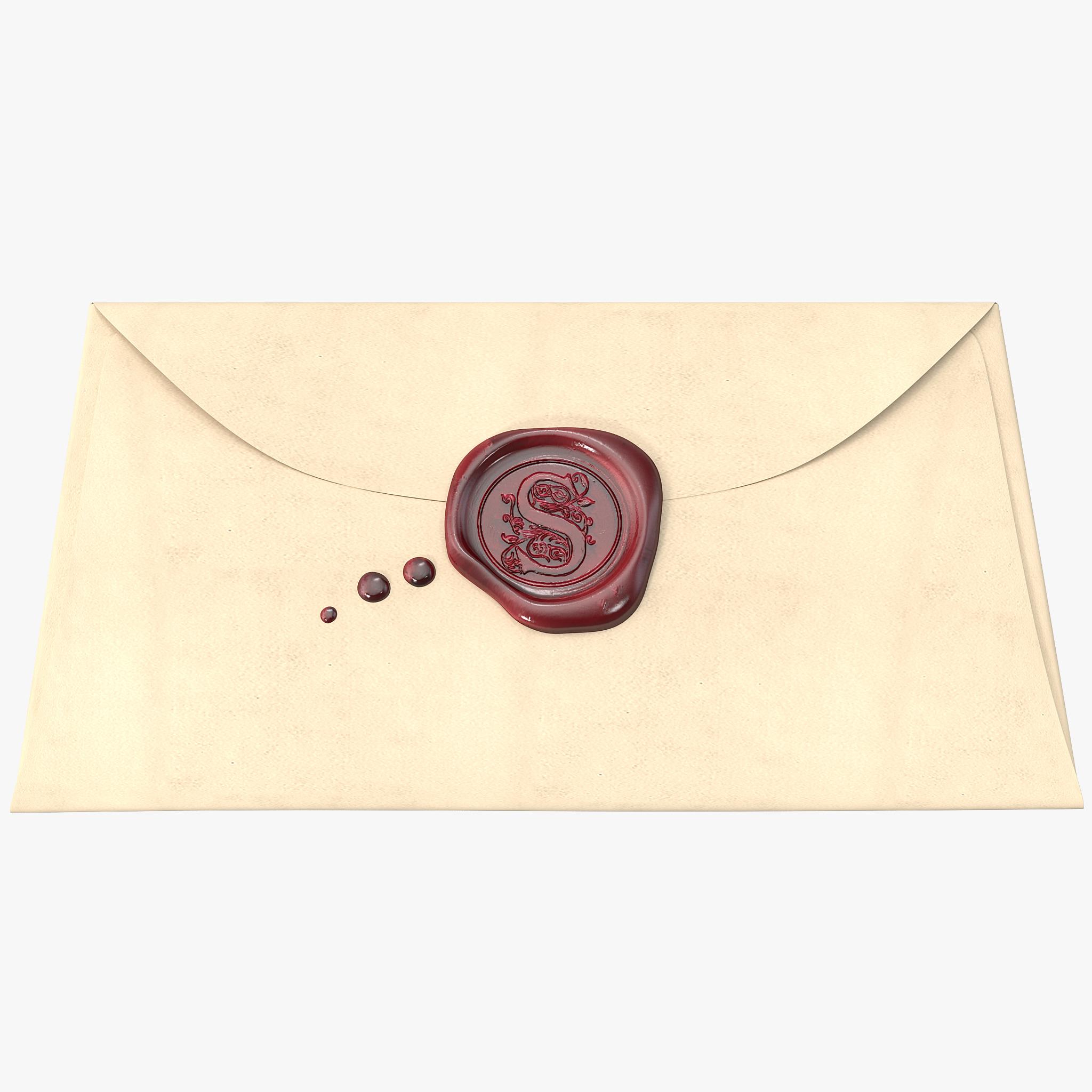 3dsmax envelope wax seal