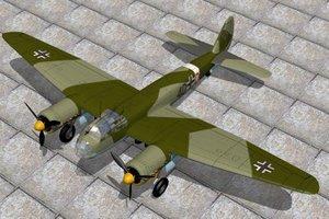 german bomber junkers 3d model
