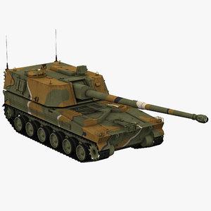 3d max korean howitzer k9 thunder