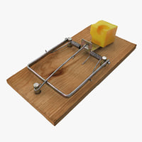 3d model mousetrap cheese