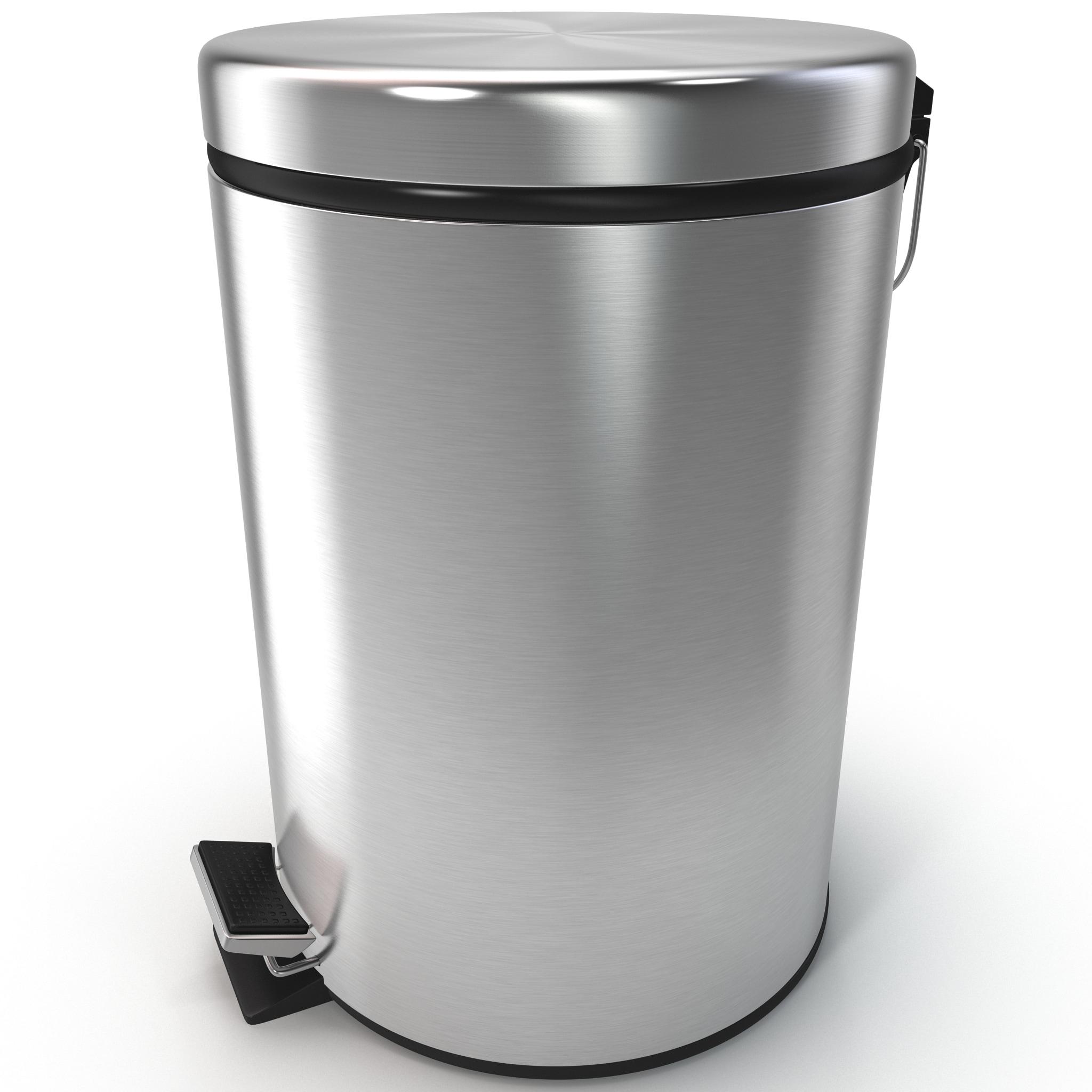3d pedal trash bin