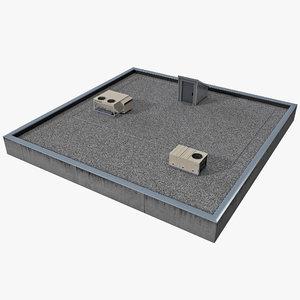 3d rooftop roof model