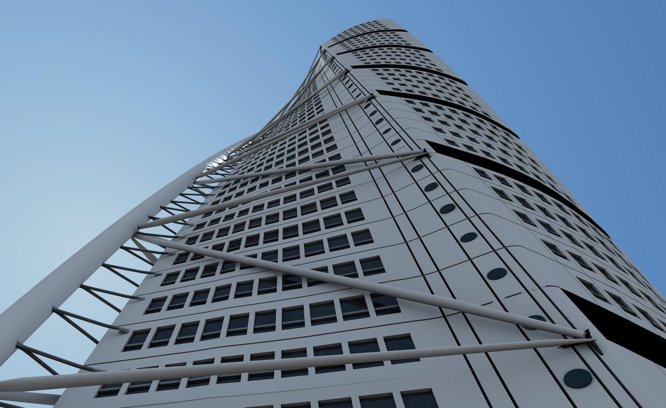 santiago calatrava building turning 3d model
