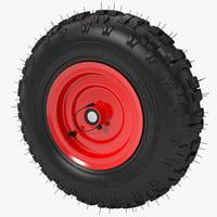 3dsmax snow tread tire blower