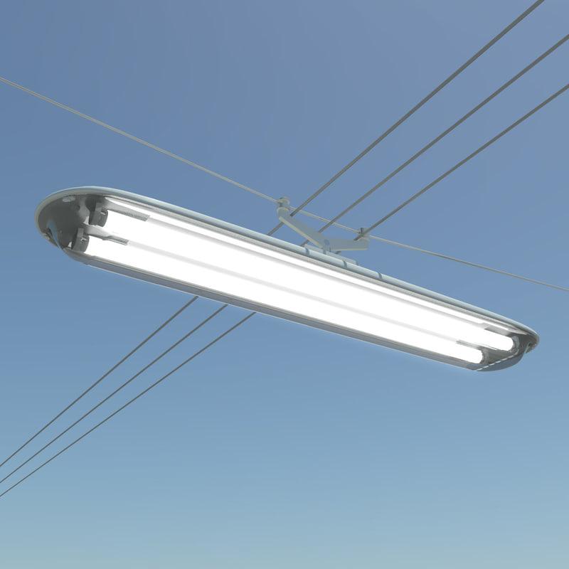 rectangular street lamp 3d dxf