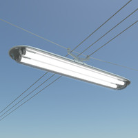 Street Lamp Rectangular Light Suspension Type